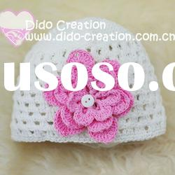 H05C030A Handmade fashion Crochet Baby's knitted Hats Cotton Hat Beanie Cap