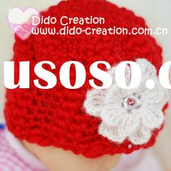 H05C031B Handmade fashion Crochet Baby's knitted Hats Cotton Hat Beanie Cap