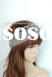 H08A006F Handmade Crochet Elastic Hair Band Cotton Headband 3.1'