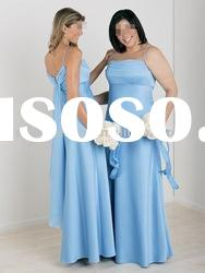 HLB0040 Latest fashion taffeta spaghetti strap flloor length bridesmaid dresses
