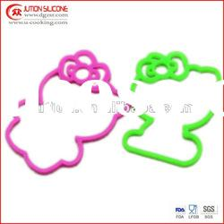 Hello Kitty Shape Colorful Silicone Rubber Band