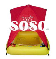 High Quality PVC Inflatable Plastic Square Printed Swimming Water Pool with Tent
