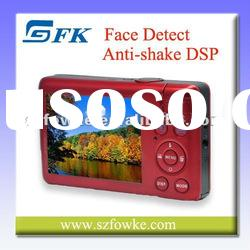 """Hot Sale! Fixed Lens Camera Digital Camera Face Detect with 2.7"""" TFT LCD"""