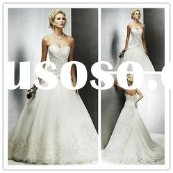 Hot sale ! Classic best-selling buttom lace flower wedding dress