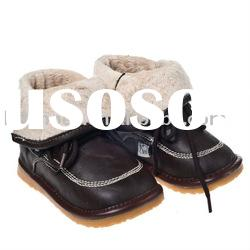 Hot selling black color squeaky shoes baby boots SQ-WB10806BR