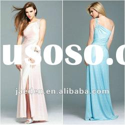 JL0092 One-shoulder design long evening cheap pretty dresses