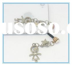 Lover crystal earphone jack plug