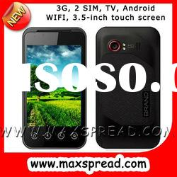 MAX-B3000 3.5-inch Android 2 SIM wifi TV 2 camera 3G phone