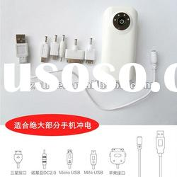 Micro usb charger with led emergency light