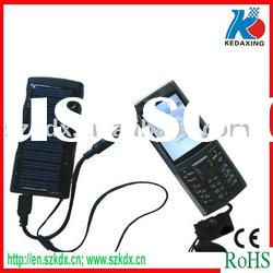 Mobile phone solar USB charger with torch