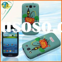 New Rubber Hard Cover For Samsung Galaxy S3 i9300 Pained Snap On Mobile Phone Protector Case