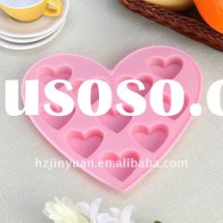 New design heart shape silicone ice mould