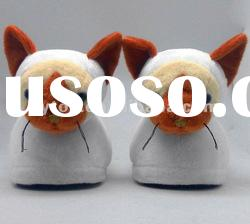 New design plush animal indoor slippers
