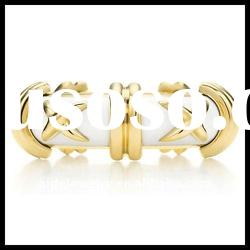 Newest Design Fashion Ring, Gold Plated Finger Ring