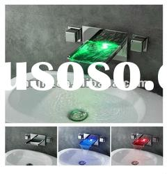 Newest design wall mounted Led basin faucet