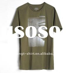 Olive green 100% cotton t-shirts