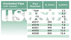 PVC Drainage BS ISO ASTM. Standard GASKETED Pipe