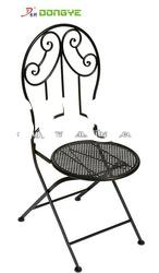 Patio Wrought Iron Folding Chair YC001081