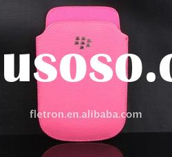 Pink Genuine leather Case Pouch For Blackberry 9900 9930
