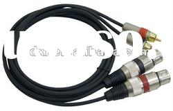 Professional Audio Link Cable XLR Female to RCA Male