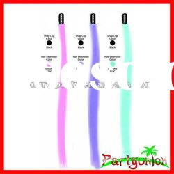 Pure Color Synthetic Hair Extensions With Snap Clip