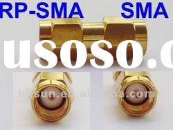 RP-SMA female Jack to SMA Male Plug RF Straight Coaxial Connector Adapter