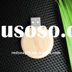 Round wooden usb flash disk, bamboo usb flash drive,