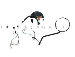 SMR-Y1099 motorcycle side mirrors strip light CG125