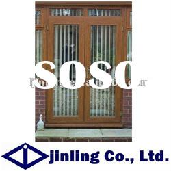 Solid Classical Cherry Wood Glass Door Design with Competitive Price