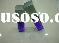 Square Shape Acrylic Cosmetic Lotion Bottle with Pump