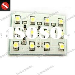 T10 PCB SMD 3528 LED lamp for auto interior lamp and car dome light by 1.92 W high power