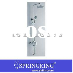 Two Handles Rainfall Bathroom Shower Faucet Set