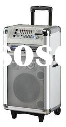 battery bar party multimedia portable cabinet speaker with usb/sd/fm/amplifier for dj/party (A-8D)