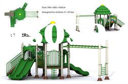 commercial plastic outdoor playground slide roundabout