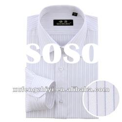 cotton / polyester mens casual shirts pattern
