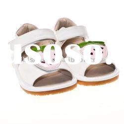 cute strawberry design squeaky shoes, squeaky sandals SQ-B11107-WH