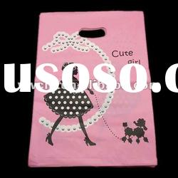 die cut plastic gift bag for promotion