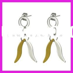 fashion stainless steel indian gold drop earrings