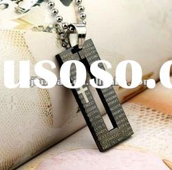 fashion titanium stainless steel letter necklaces jewelry