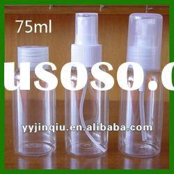 fine material PET 75ml sprayer perfume bottle for cosmetic us or medical use