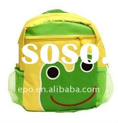 funny kids backpack with frog