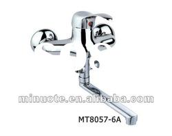 good quality single handle wall mounted kitchen shower mixer