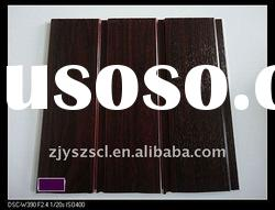 high quality grain laminated pvc wall panel with 2 gap