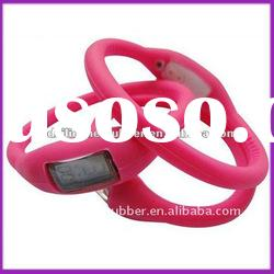 hot sale 3ATM ion silicone wristband watch for children
