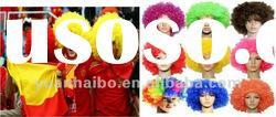 hot sale cheap price football fan wigs for sale