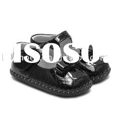 hot selling black bow soft soled baby shoes for Christmas LBL-BB11006BK
