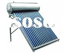 low pressurized stainless steel solar water heater