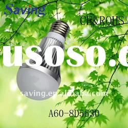 new design dimmable high performance 7W smd led bulb light(A60E27-8D5630)
