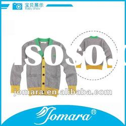 new design fashion V-neck kids sweater boys
