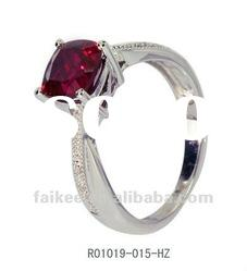 new fashion 925 sterling silver rings with natural garnet